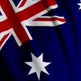 australiensisk closeupflagga Arkivbild
