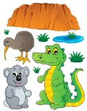 Australiensisk djurlivfaunauppsättning 3 Arkivbild