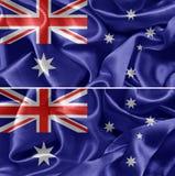 australiensisk flagga Fotografering för Bildbyråer