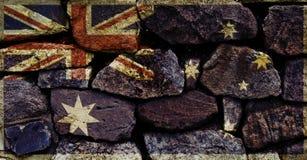 Australiensisk flagga Royaltyfri Fotografi