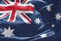 australiensisk flagga Arkivbild