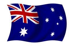 australiensisk flagga Arkivbilder
