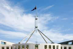 australiensisk flagga Arkivfoto