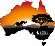 Australiensisk kontinent stock illustrationer
