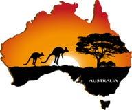 Australiensisk kontinent Royaltyfria Bilder