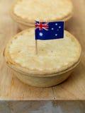 australiensisk meatpie Arkivfoto