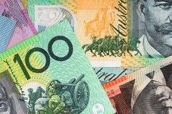Australiensisk pengarbakgrund Arkivbilder