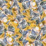 australiensisk pengarwallpaper Royaltyfria Foton