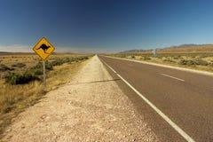 australiensisk roadsign Royaltyfria Bilder