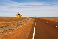 australiensisk roadsign Arkivfoton