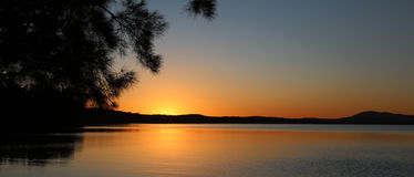 australiensisk solnedgång arkivbilder