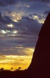 australiensisk solnedgång Arkivfoton