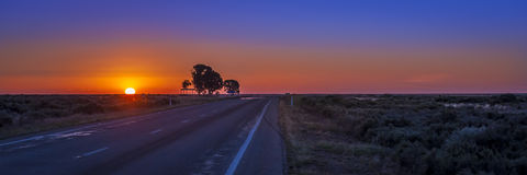 Australiensisk soluppgång Arkivfoto
