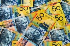 australiensisk valuta royaltyfria bilder