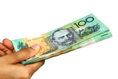 australiensisk valuta Arkivbild