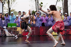 Australiensiska folk dansare Royaltyfria Bilder