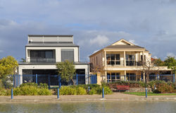 Australiensiska hus på laken Arkivfoto