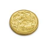 australiensiska myntdollarpengar en Royaltyfri Fotografi