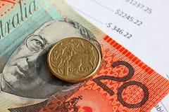 australiensiska pengar Royaltyfri Bild