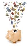 australiensiska piggy gruppbudgetpengar Royaltyfri Foto