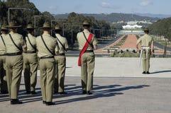 australiensiska soldater Arkivfoton
