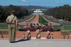 australiensiska soldater fotografering för bildbyråer
