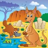 Australiensiskt djurtema 4 Arkivfoto