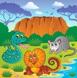 Australiensiskt djurtema 6 Royaltyfri Foto