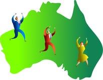australiensiskt lag royaltyfri illustrationer