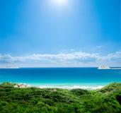 australiensiskt strandparadis Arkivbild