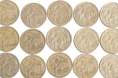 australier coins dollaren Arkivbild
