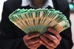 Australier 100 dollarräkningar Arkivfoton