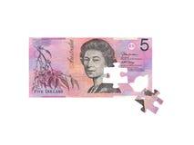 Australier fünf Dollar-Anmerkung Lizenzfreies Stockbild