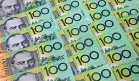 Australier hundert Dollar-Anmerkungen Stockfotografie