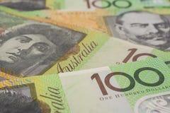 Australier hundert Dollar-Banknoten Lizenzfreie Stockfotografie