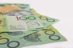 Australier hundert Dollar-Banknoten Stockfotos