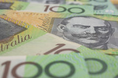 Australier hundert Dollar-Banknoten Stockbilder
