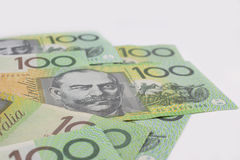 Australier hundert Dollar-Banknoten Lizenzfreies Stockfoto