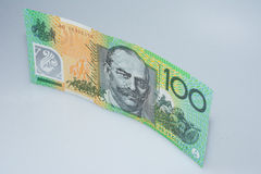 Australier hundra dollarsedel stående övre Sir John Monash Side Arkivbild