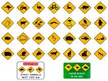 australier undertecknar varning vektor illustrationer