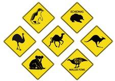 Australier-Verkehrsschilder Vektor Abbildung