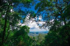 AustralierMountain View närliggande Brisbane stad i Queensland, Australien Australien är en kontinent som lokaliseras i den södra royaltyfri bild