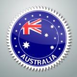 Australijczyk flaga etykietka Zdjęcia Royalty Free