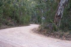 Australijczyk odpieczętowana wiejska droga Fotografia Stock