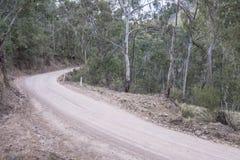 Australijczyk odpieczętowana wiejska droga Zdjęcia Royalty Free