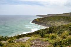 Australijczyk plażowa linia brzegowa przy 'kapelusz głową' zdjęcie royalty free
