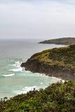 Australijczyk plażowa linia brzegowa przy 'kapelusz głową' obrazy royalty free