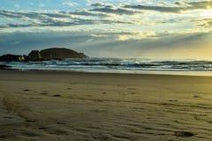 Australijczyk plażowa linia brzegowa przy 'Delikatnym Nobby' obraz royalty free