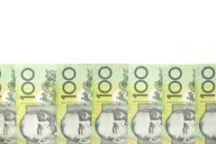 Australijczyk Sto Dolarowych Rachunków Fotografia Royalty Free