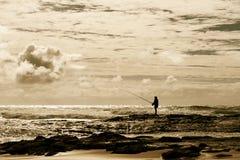 australijczyka brzegowa połowu komarnica fotografia stock
